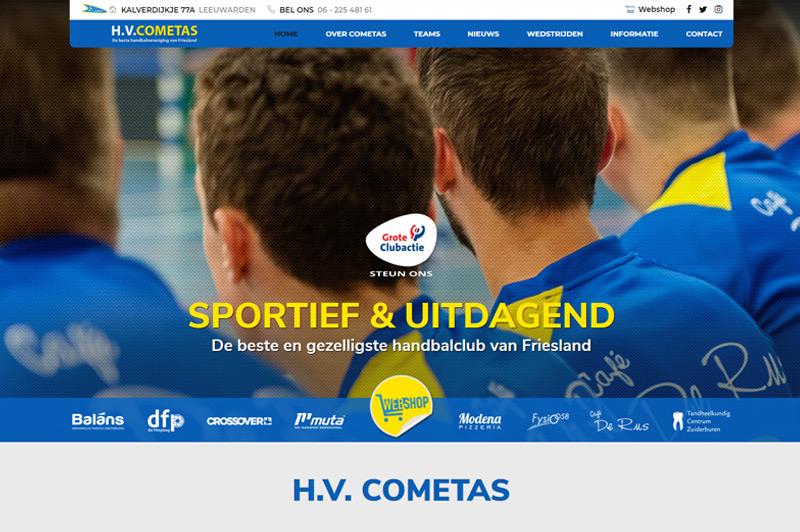 Nieuwe website H.V.Cometas